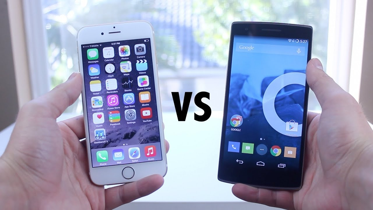 iphone 6 vs oneplus one speed test youtube. Black Bedroom Furniture Sets. Home Design Ideas