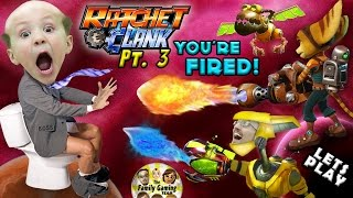 CHASE IS BOSS, YOU'RE FIRED!  Lets Play RATCHET & CLANK #3: FGTEEV Duddy's New PYROCITOR Weapon!