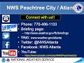 NWS Atlanta Weekly Weather Briefing for July 30th, 2020