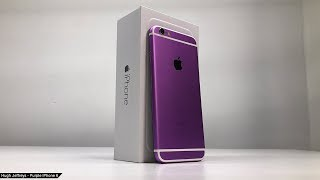 Custom Purple iPhone 6 built from parts!