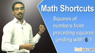 Aptitude shortcuts for competitive exams (IBPS ): Squares of numbers preceding squares