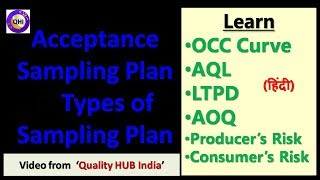 Acceptance Sampling Plan, AQL, LTPD & OCC Curve - Video from 'Quality HUB India'