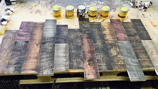 How to distress new wood and layer stain