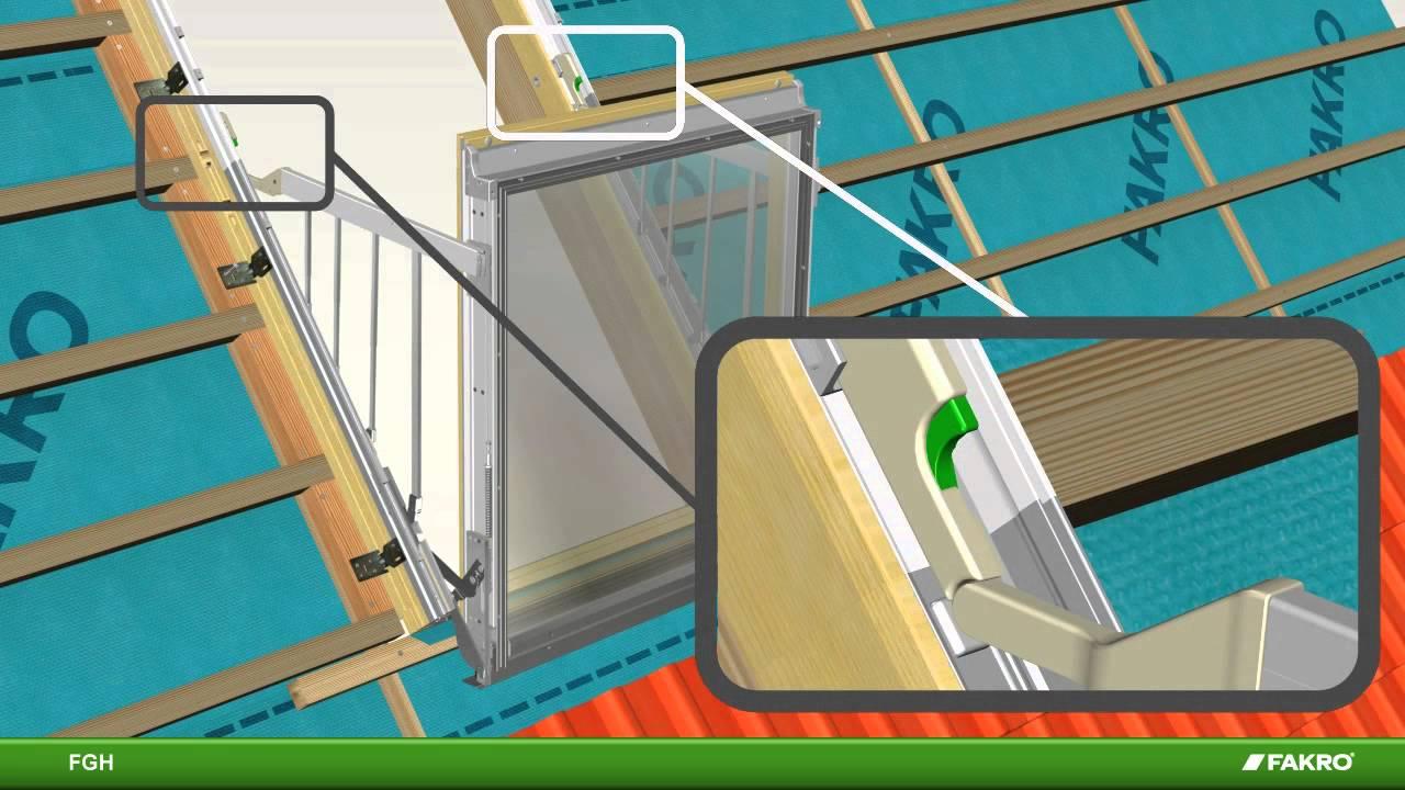 Fakro FGH Galeria Balcony Roof Window - YouTube