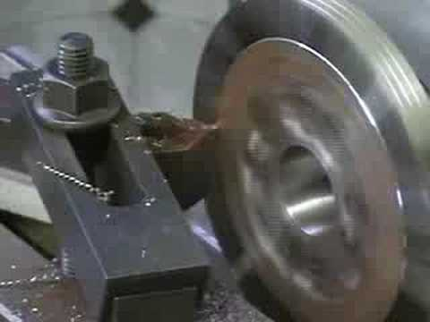 Hafco HM-52 Converted to CNC Lathe making Chuck Adaptor