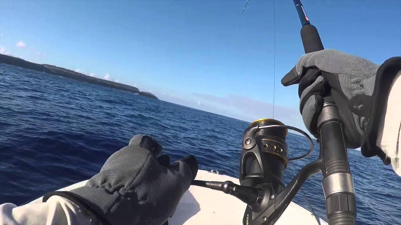 Guam fishing  wahoo on jigging