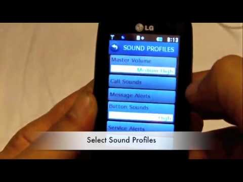 Tracfone LG505C. How to Turn off Screen Press Sound Tones