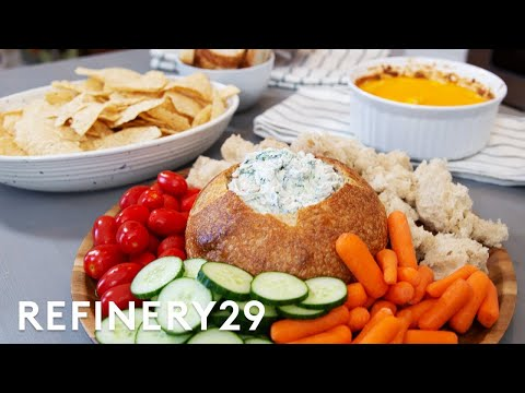 How To Make 3 Easy Dips For A Summer Party | My Kitchen Sink | Refinery29