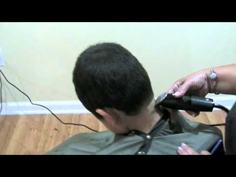 Machine Haircut step by step Corte de cabello de hombre a maquina