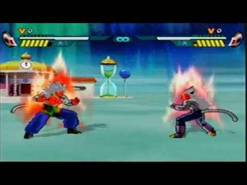 Dragon Ball Budokai AF Goku SSJ5 Vs Vegeta SSJ5