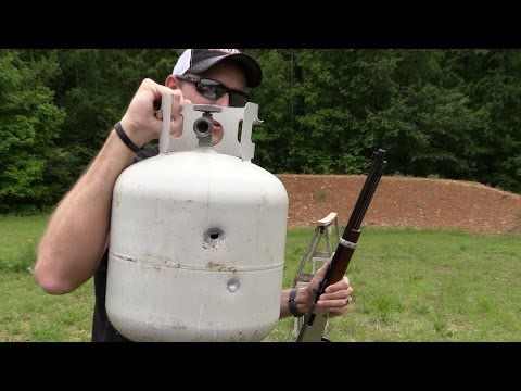 How many 22lr's will it take to puncture a propane tank?