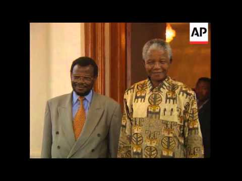 SOUTH AFRICA: MANGOSUTHU BUTHELEZI IS SWORN IN AS ACTING PRESIDENT