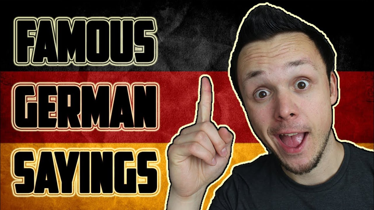 Learn Funny German Sayings/Proverbs - YouTube