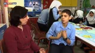 """أطفال معاقون بغزة ينتجون """"كارتون"""""""