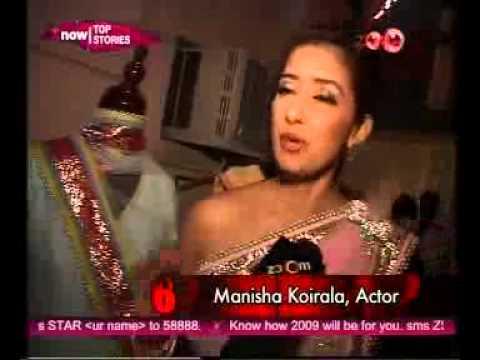 Maheka Mirpuri with Manisha Koirala on ZOOM TV