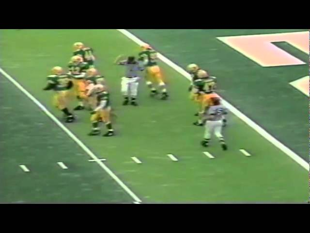 Oregon punter Tommy Thompson pins Stanford on 3 yard line 11-02-1991