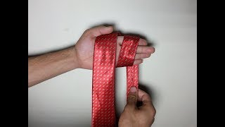 How to Tie a Tie EASY in 10 Seconds Full Windsor Knot Step by Step Mirrored / Slowly (Men's Fashion)