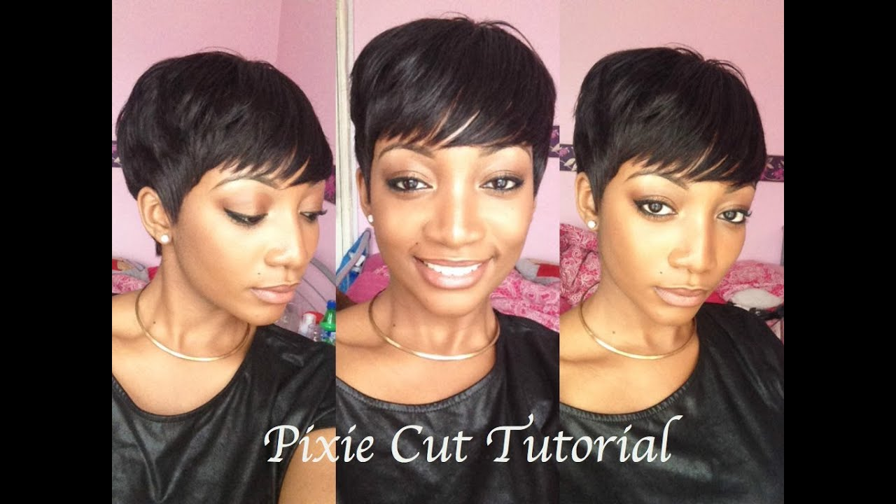 Diy how to cut amp style a pixie wig youtube