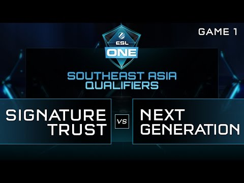Signature Trust vs Next Generation - ESL One Manila SEA Qualifier - Game 1