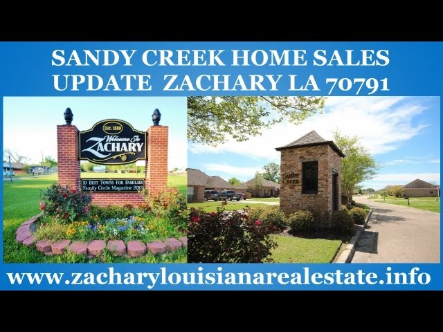 Sandy Creek Zachary Home Sales Update Beware Of Overpriced Listing Prices