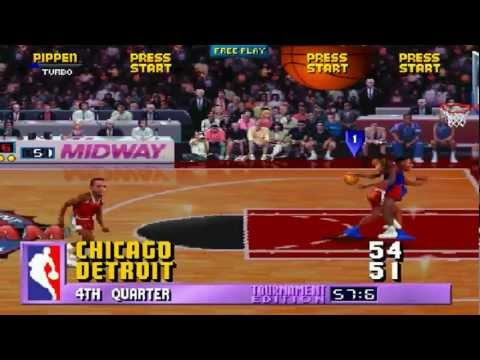NBA Jam TE ARCADE 1080P HD PLAYTHROUGH - CHICAGO BULLS VS DETROIT PISTONS