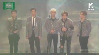 BIGBANG wins Best song of the Year (Bang Bang Bang ) @ MMA