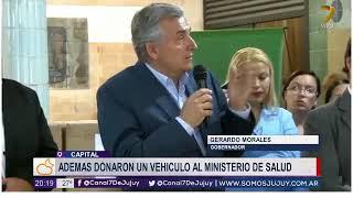 13-12-18- El gobierno entrego elementos a agentes sanitarios del Interior - Gob.  Gerardo Morales