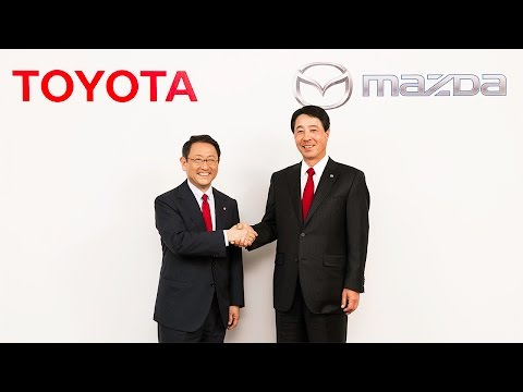 トヨタとマツダ、業務提携に関する共同記者発表会