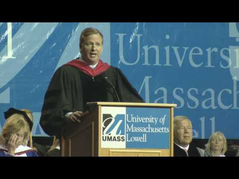 N.F.L. (National Football League) Commissioner Roger Goodell gives the 2010 Commencement Address at UMass Lowell. Among his comments was a lesson to Graduate...