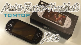 Multi-Retro-Handheld X12 China Konsole Unboxing | Test | Review | HD+ | Deutsch