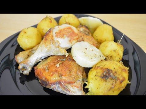 Курица с картошкой запечённая в казане