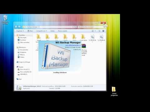Tutorial como usar backup manager para pasar juegos de wii a un usb