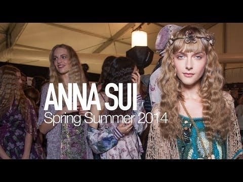 ANNA SUI Spring 2014 Backstage ft Pat McGrath, Karen Elson | MODTV