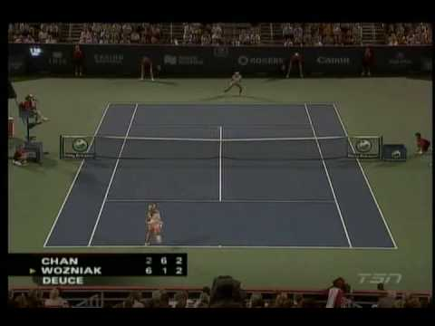 Yung-Jan Chan (TPE) vs. Aleksandra Wozniak (CAN) Highlights 2/2 [MONTREAL 2008 R64] Video