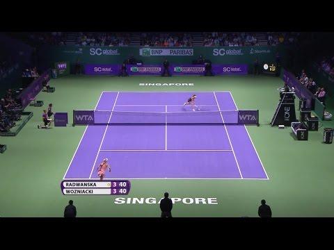 Agnieszka Radwanska 2014 WTA Finals Hot Shot | Day 4