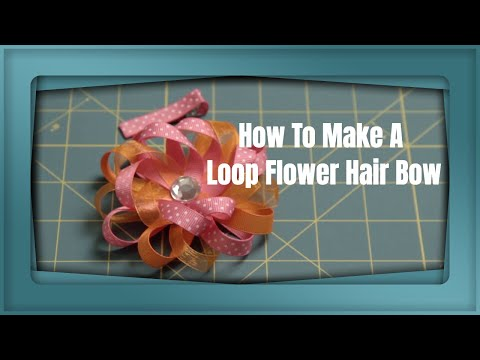 Loop Flower Hair Bow