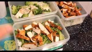 Preparing a Full Day of Food and Supplements - Contest Prep Bodybuilding Diet