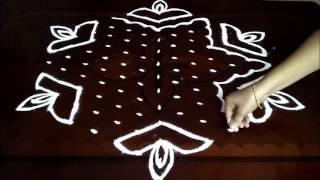 Special Diwali Kolam With 13-7 Middle | Chukkala Muggulu With Dots| Rangoli Design