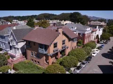 Aerial Real Estate Video - 3800 Clay St, San Francisco CA