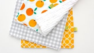 How to sew a Burp Cloth - easy for beginners!
