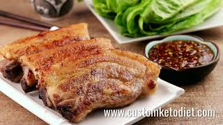 Keto Grilled Pork Belly with Ssamjang Dipping Sauce - Grilled Pork Belly Recipe