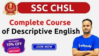 SSC CHSL | Complete Course  of Descriptive English | 10% Off, Join Now