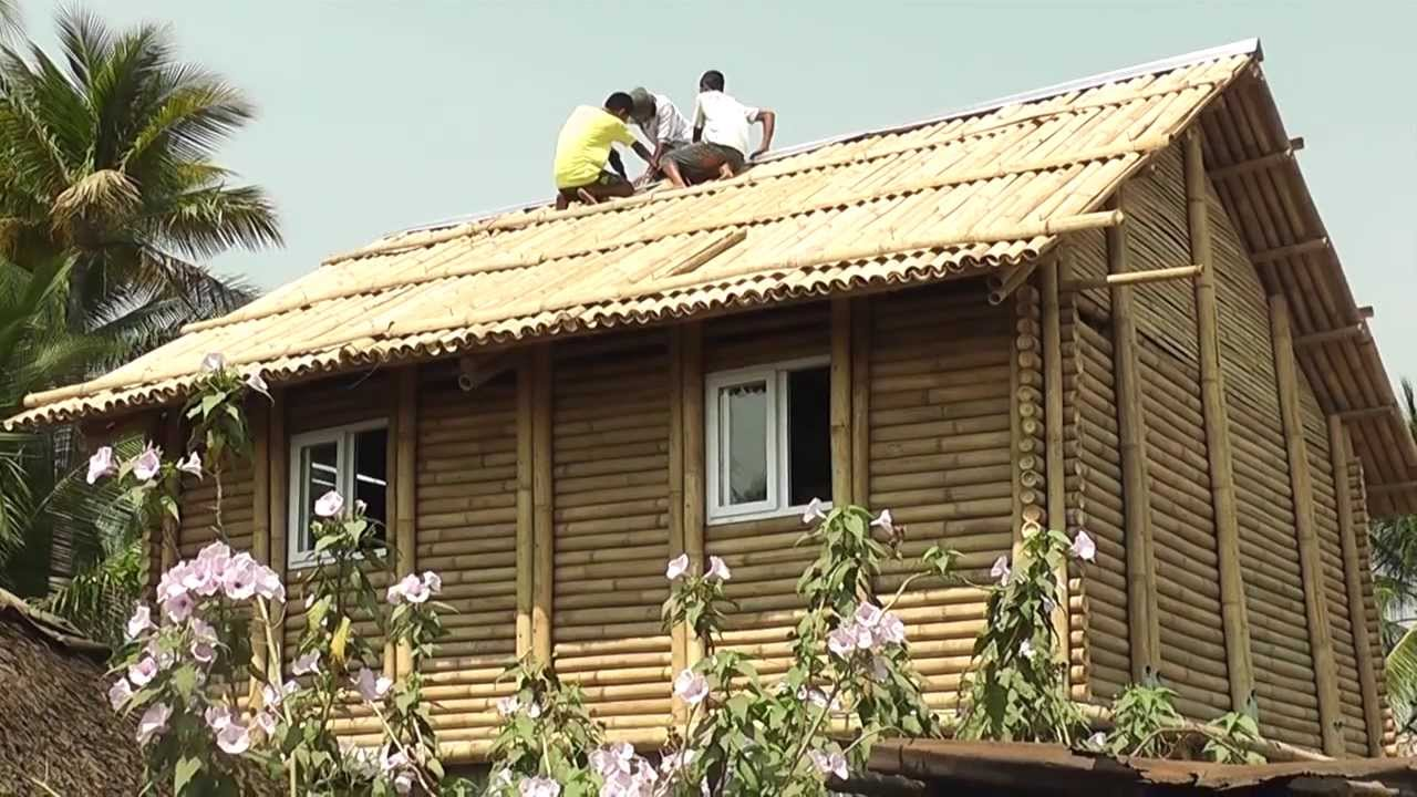 Familias de Las Lisas reciben casas de bambú - YouTube