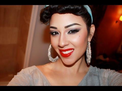 LATINA Pinup Girl Makeup - YouTube