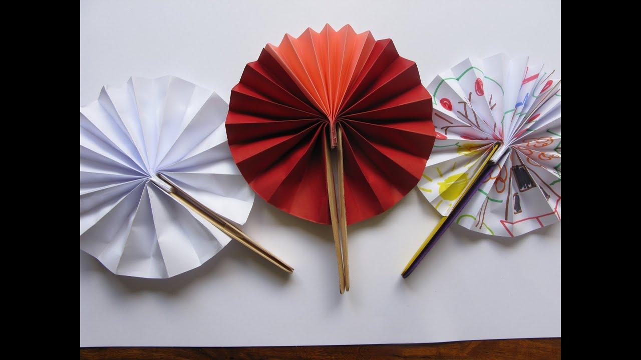 Manualidades abanico f cil manualidades para todos - Manualidades para ninos con papel ...