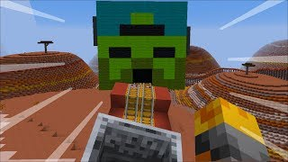 TRAVEL INSIDE MARK OUR FRIENDLY ZOMBIE ULTIMATE ROLLER COASTER!! BEWARE OF THE ZOMBIES!! Minecraft