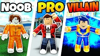 ROBLOX NOOB vs PRO vs SUPER VILLAIN in MAD CITY