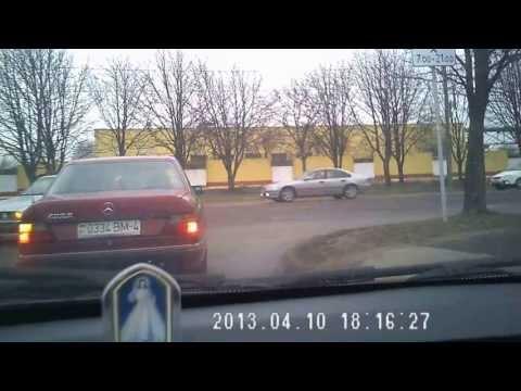 авария на видеорегистратор  идиот