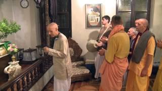 2014.10.22. Deities Greeting, Guru Puja HG Sankarshan Das Adhikari, Kaunas, Lithuania