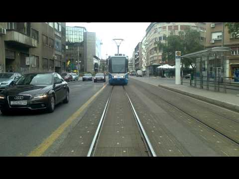 ZAGREB TRAM - Linie 13: Kvaternikov trg - itnjak [Umleitung!] (Teil 1/4)